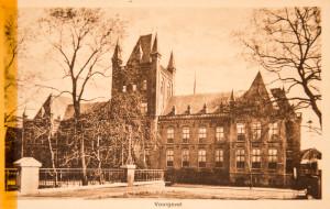 Het Hiëronymushuis aan de Maliesingel. Vanaf 1874 was hier het RK wees- en oudeliedenhuis in gevestigd. De zusters van Liefde van Tilburg hadden er de dagelijkse leiding. In het huis kwam eveneens de regentenkamer.