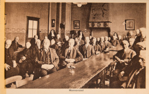 Mannenzaal in het Hiëronymushuis ca. 1900.